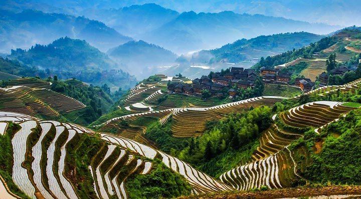 Красивое место: террасы Юнынань