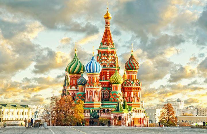 Красивое здание в Москве