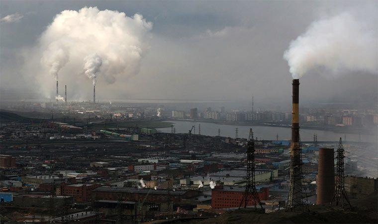 Самые грязные города России